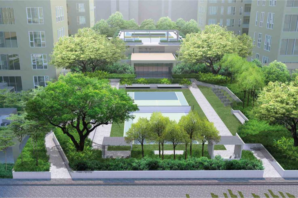 Flats in New Alipore: sports pavilion